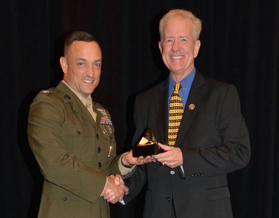 Chas Receiving MCM HOF Award 2